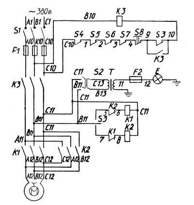 Электрическая схема тв 7