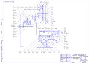 станок с ЧПУ 6Р13Ф3 кинематическая система