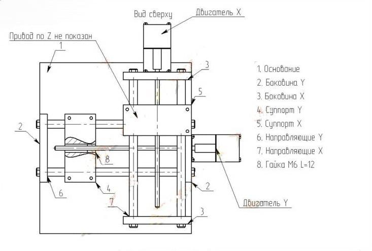 Схема самодельного станка